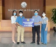 Viên chức, người lao động Văn phòng các Chương trình KH&CN quốc gia tham gia ủng hộ Quỹ vắc xin phòng chống Covid 19